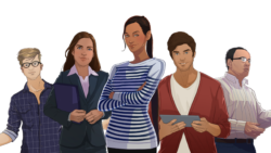 personnages serious game breizhcop