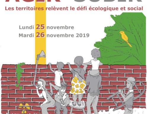 Journées des territoires 2019: Agir sans subir, Les territoires relèvent le défi écologique et social